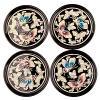 나전칠기 컵받침 4종세트-나비